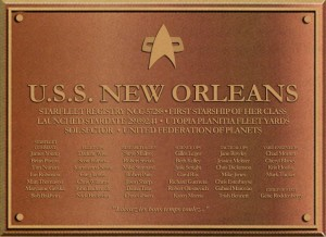 USS New Orleans Commisioning Plaque